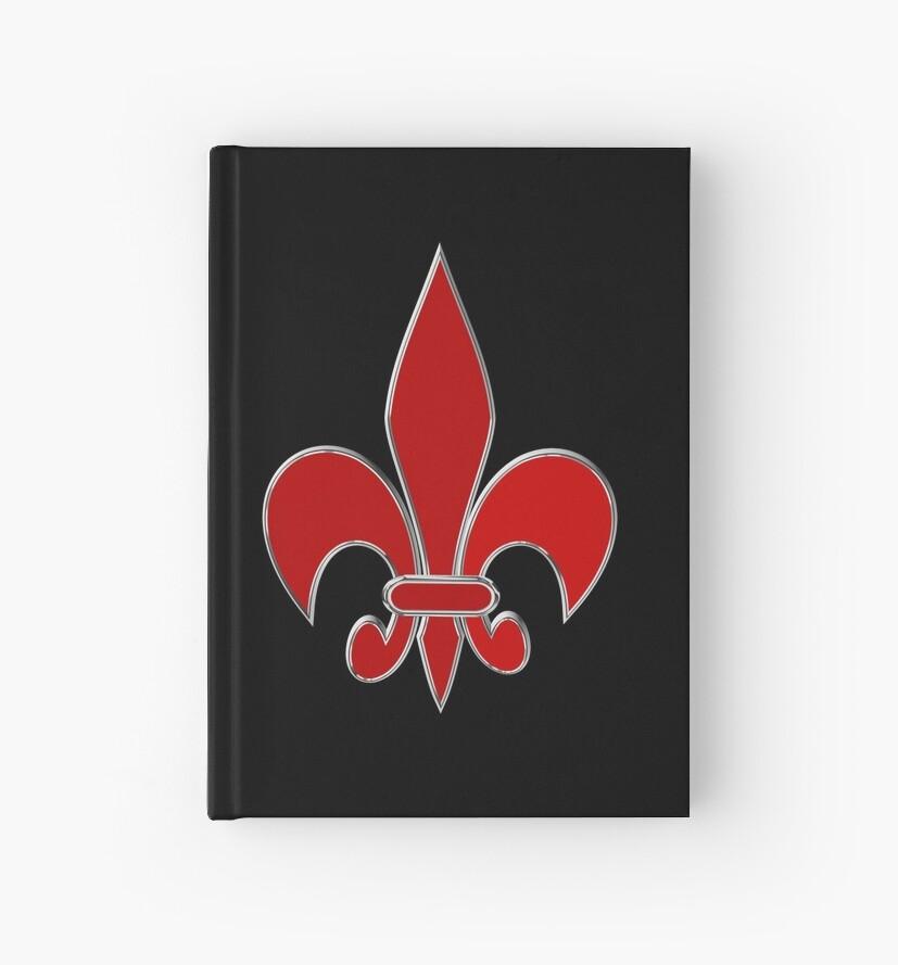 Fleur De Lis Symbol Hardcover Journals By Igorsin Redbubble