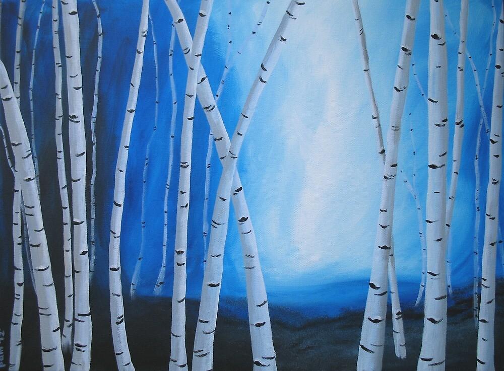 Birch Tree Blues by Pamela Burger