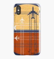 747 Sunrise | Vintage Retro Jumbo Jet iPhone Case/Skin