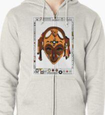 African Mask Sudadera con capucha y cremallera