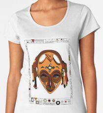 African Mask Camiseta premium para mujer