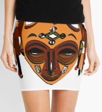 African Mask Minifalda