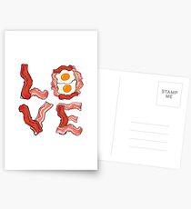 LOVE Bacon & Eggs Breakfast Postcards