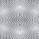 Black Wavy Lines Pattern  by Gina Manley