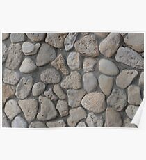 Background of stone wall texture Poster