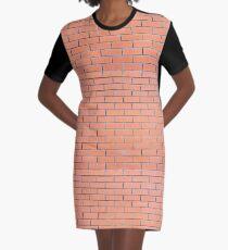 Backsteinmauer Muster T-Shirt Kleid