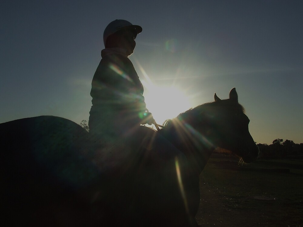 Ride off into the sunset. by Edwina Hare