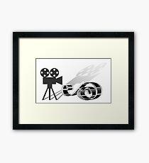 Film strip and film camera Framed Print