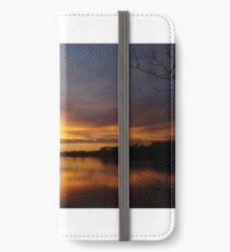 Sunset over the Aquadrome, Rickmansworth 1 iPhone Wallet/Case/Skin