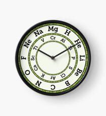 Chemische Elemente Uhr - Grün Uhr