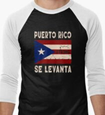 Puerto Rico Strong Se Levanta Shirt Men's Baseball ¾ T-Shirt
