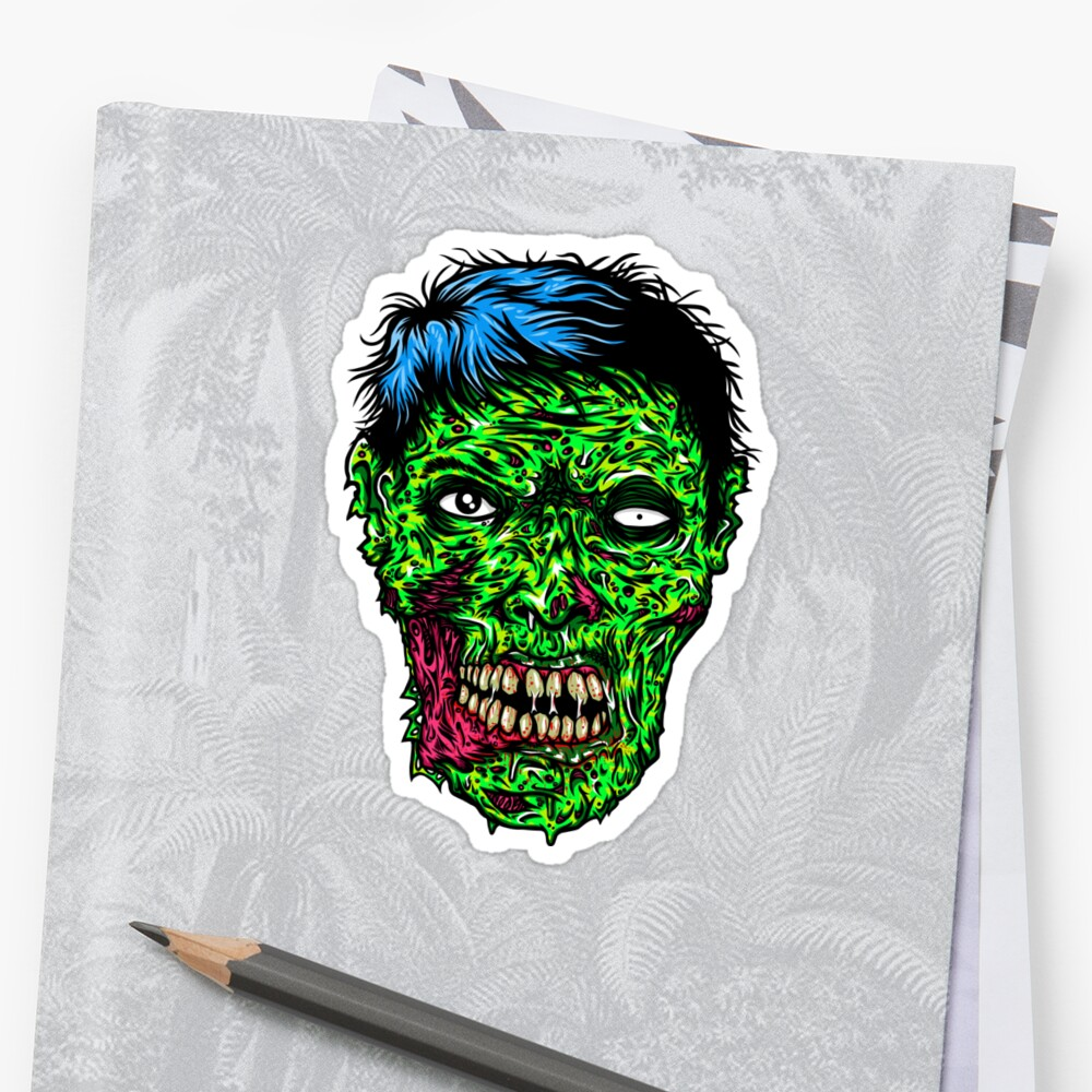zombie decals kill or be eaten - 1000×1000