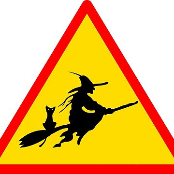 Witch on broomstick by BigRedDot