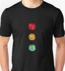 Traffic lights red amber green Unisex T-Shirt