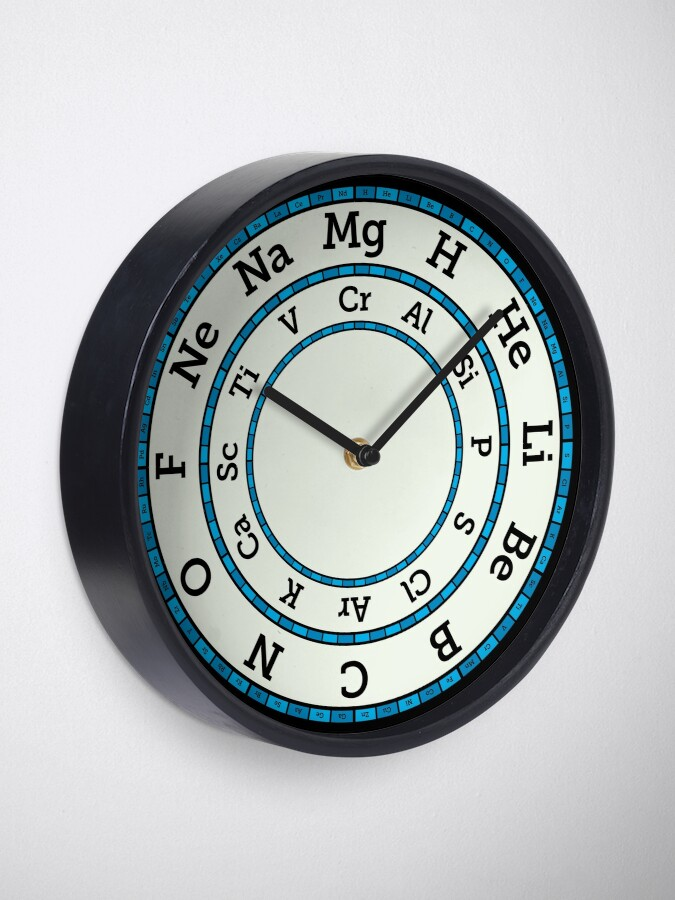 Alternate view of Chemical Elements Clock – Blue Clock