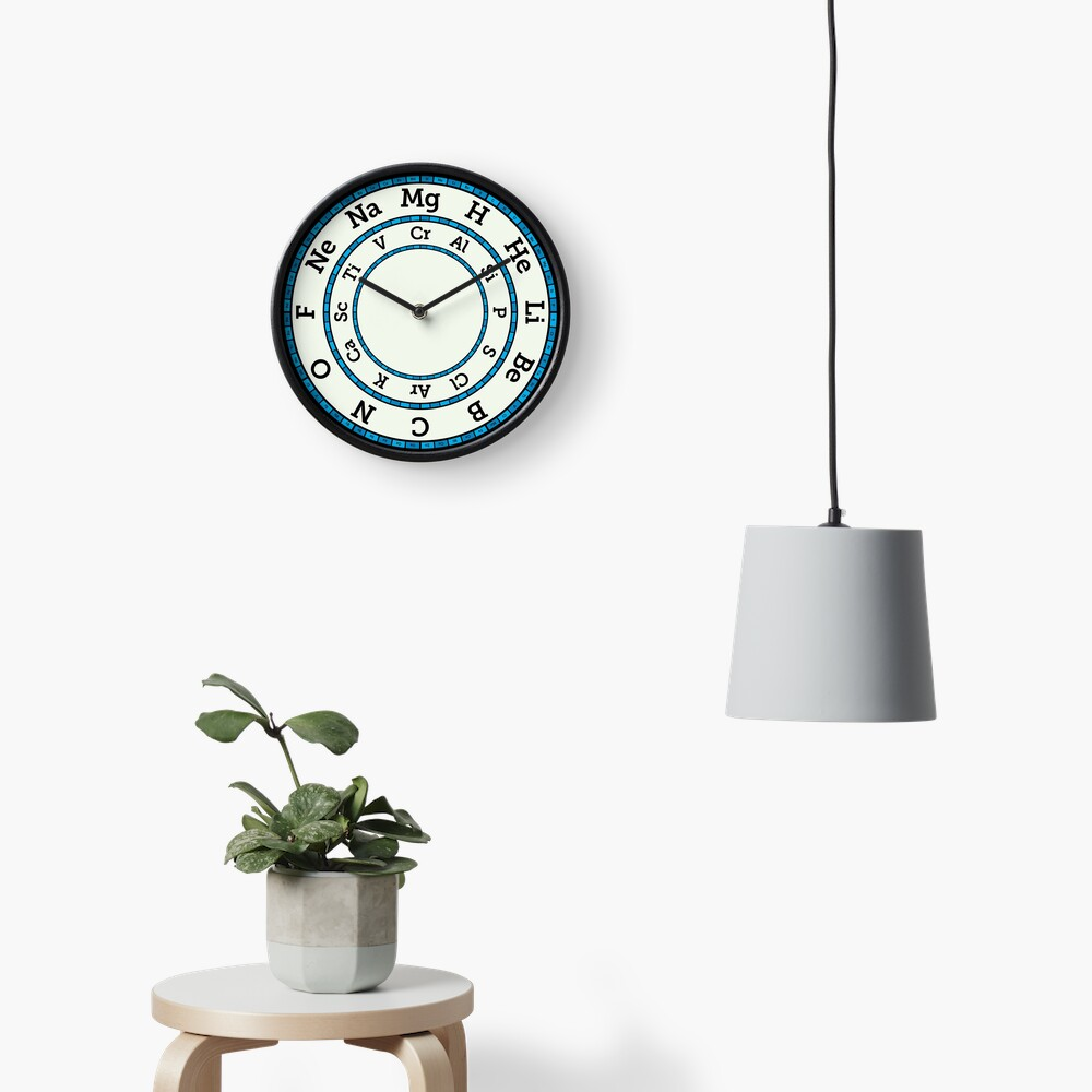Chemical Elements Clock – Blue Clock