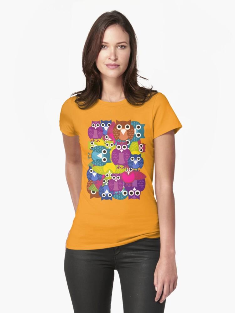 owlish T-shirt  by teegs