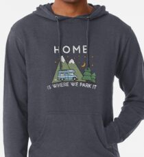Camping Home Is Where We Park It Campervan Gift Leichter Hoodie
