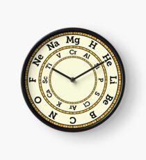 Chemische Elemente Uhr - Gelb Uhr