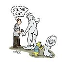 Stupid cat ... the human thinks by Crowden