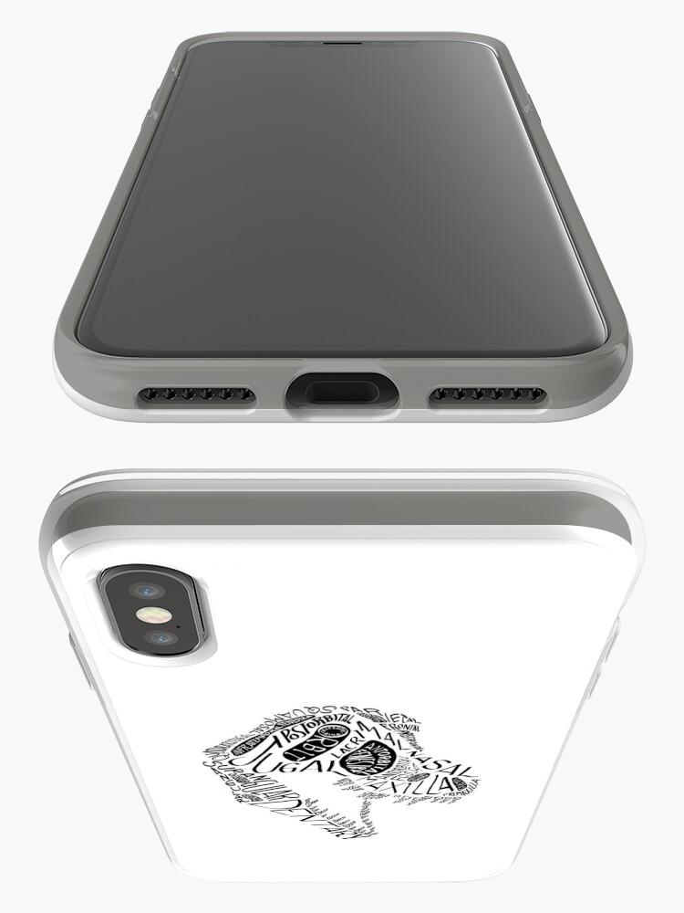 Alternate view of Black Calligram Tyrannosaur Skull iPhone Case & Cover