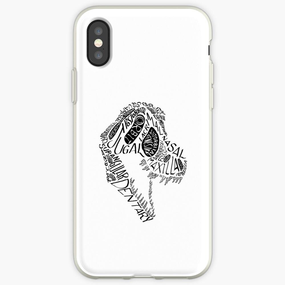 Black Calligram Tyrannosaur Skull iPhone Case & Cover