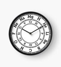 chemistry home decor redbubble Element B chemical elements clock grey clock