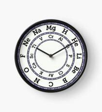 Chemische Elemente Uhr - Lila Uhr
