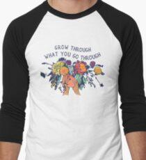 Grow Through What You Go Through Men's Baseball ¾ T-Shirt