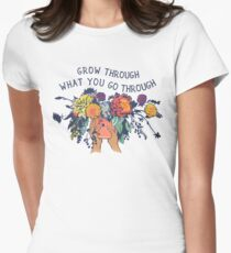 Grow Through What You Go Through Women's Fitted T-Shirt
