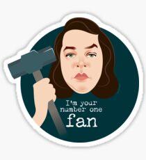 Number 1 fan Sticker