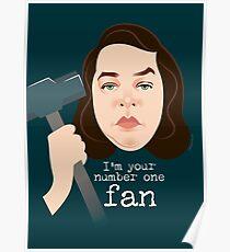 Number 1 fan Poster