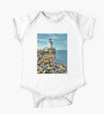 Maine Lighthouses- the Bug Light One Piece - Short Sleeve