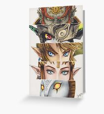 Legend of Zelda: Twilight Princess eyes Greeting Card