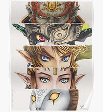 Legend of Zelda: Twilight Princess eyes Poster