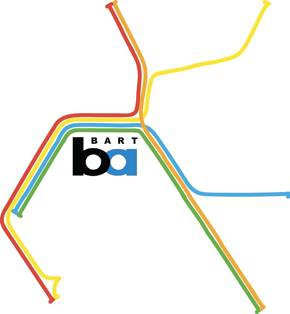 Bart San Francisco Metro Map By Jzeeman Redbubble