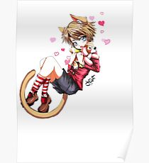 Kawaii Neko Boy Poster