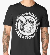Camiseta premium para hombre Liberación Animal