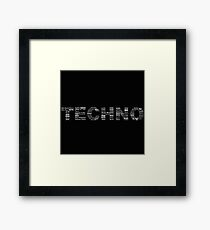 True Techno Framed Print