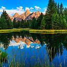 Grand Teton Reflections in Snake River by bengraham