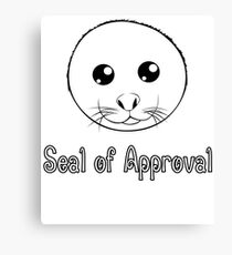 Seal of Approval tshirt Canvas Print