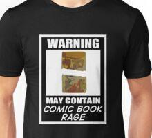Warning May Contain Comic Book Rage (T-Shirt & Sticker )  Unisex T-Shirt