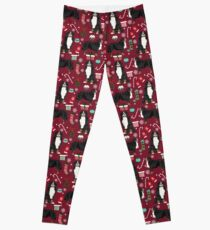 Bernese Mountain Dog christmas dog breed gifts mittens stockings presents candy canes Leggings