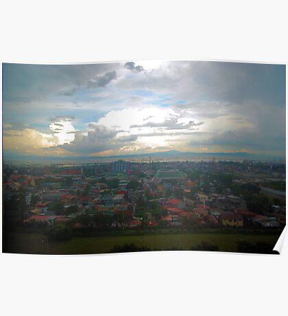 Manila Bay rain coming in Poster