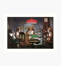 Dogs Playing Poker - A Friend In Need Art Print