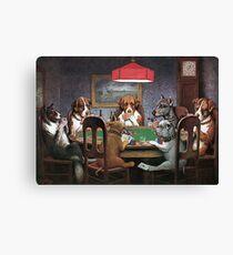 Hunde, die Poker spielen - ein Freund in Not Leinwanddruck