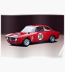 1965 Alpha Romeo GTA Poster