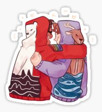 hoodie bros Sticker