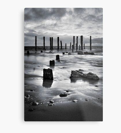 Port Willunga (Black and White) Metal Print