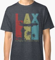 LAX Los Angeles Int'l Airport Retro Art Classic T-Shirt